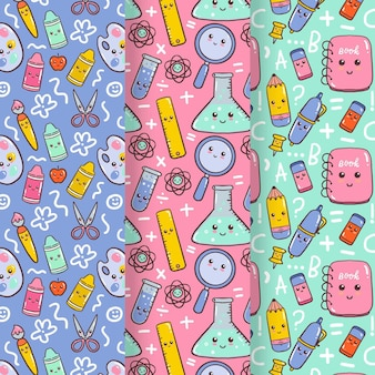 Back to school pattern collection theme