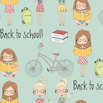 Back to school pattern design