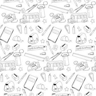 Back to school pattern doodle