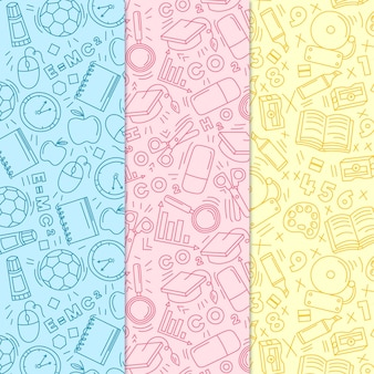 Back to school pattern hand-drawn theme