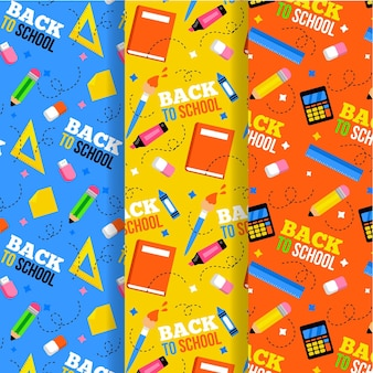 Back to school pattern set theme
