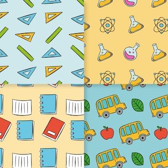 Back to school pattern set
