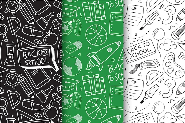Back to school pattern set