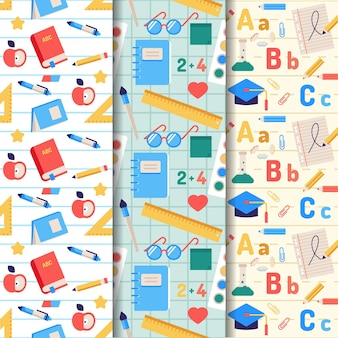 Back to school pattern theme