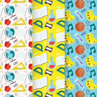 Back to school patterns collection