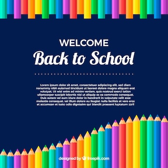 Torna a scuola sfondo di matita