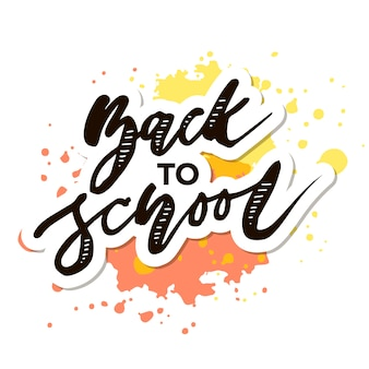 Back to school phrase lettering