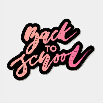 Back to school phrase vector lettering calligraphy autumn