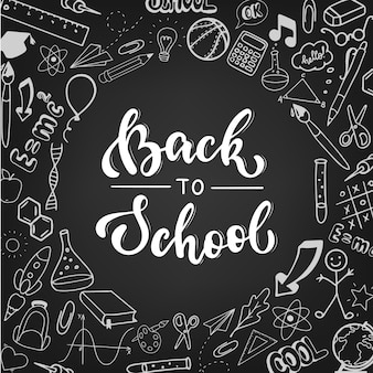Back to school poster, banner, print