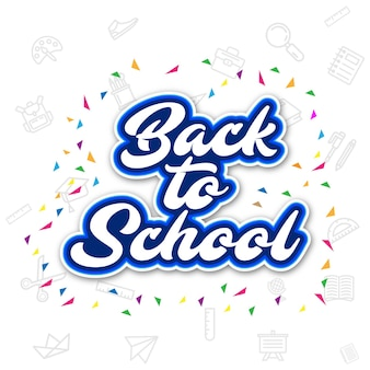 Back to school poster design background abstract