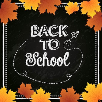Back to school poster design
