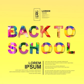 Back  to school poster design