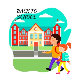 Back to school poster flat vector design