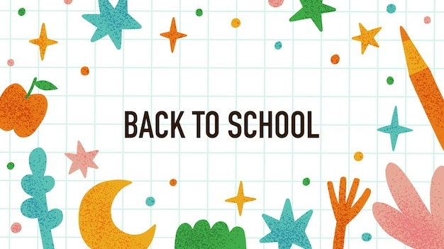Back to school poster funny education concept