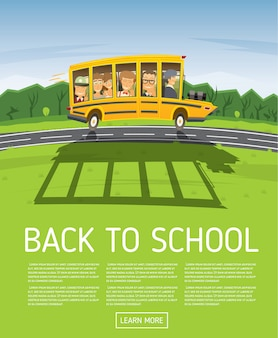 Back to school. poster template