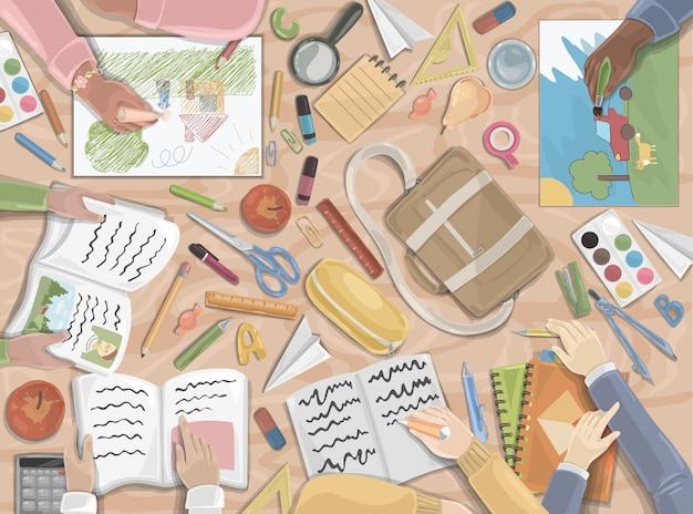Back to school, preschool, childhood set