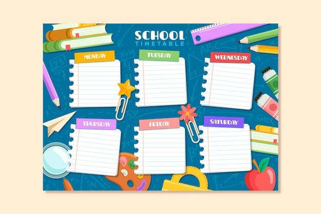 Back to school program flat design