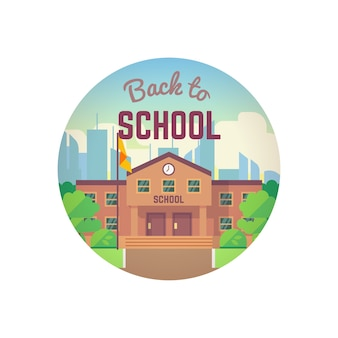 Back to school round concept