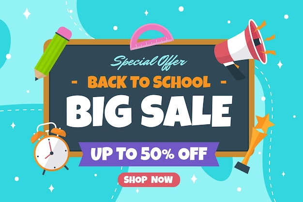Back to school sale background