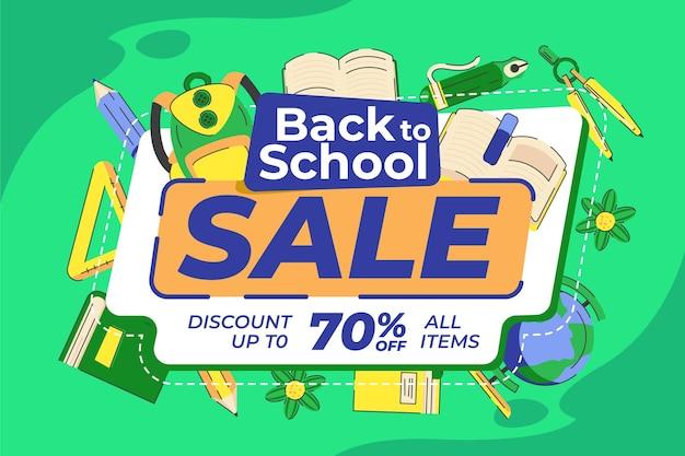Ritorno allo sfondo della vendita della scuola
