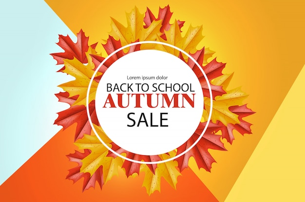 Back to school sale banner for discount and offer