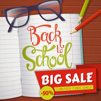 Back to school sale banner.