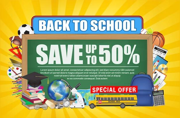 Back to school sale chalkboard