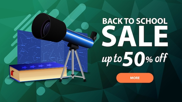 Back to school sale, discount web banner for your site