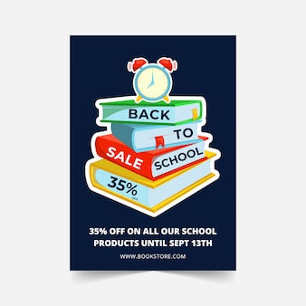 Back to school sale flyer template design