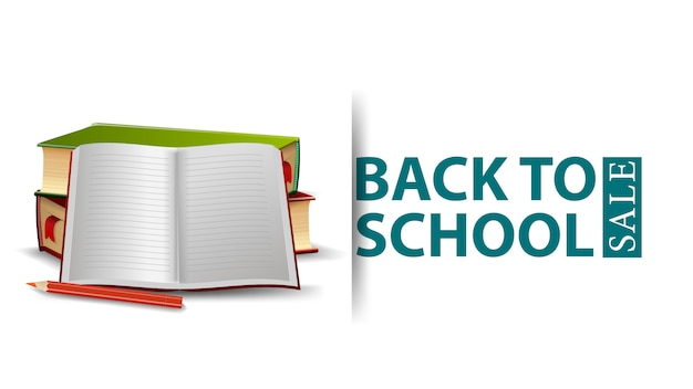 Back to school sale, modern design of a discount banne