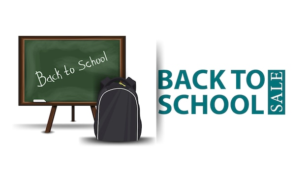 Back to school sale, modern of a discount banner
