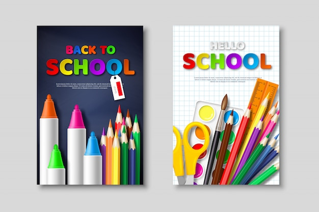 Back to school sale posters.