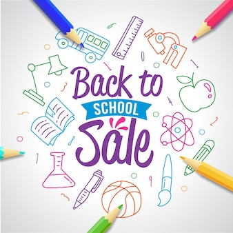 Back to school sale typography