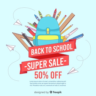 Back to school sales background