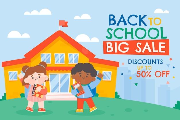 Ritorno allo sfondo delle vendite scolastiche