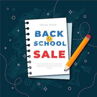 Back to school sales flat design