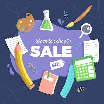 Torna a scuola le vendite in design piatto