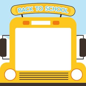 Back to school, school bus template