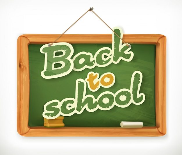 Back to school. schoolboard  icon