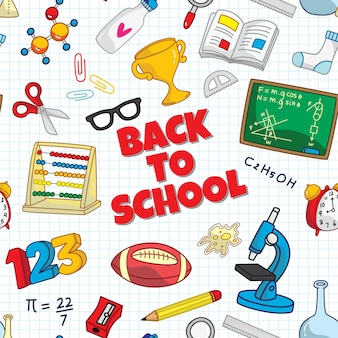 Back to school seamless background