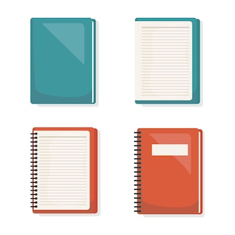 Back to school set books icon