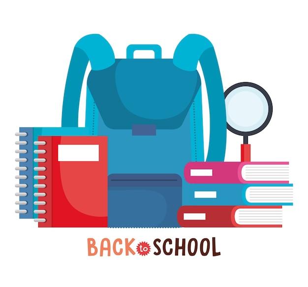 Back to school set icons vector illustration design
