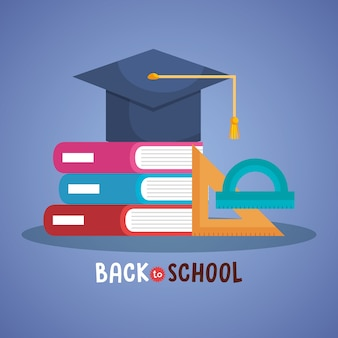 Back to school set icons vector illustration design