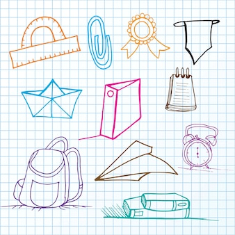 Back to school set of lines icons vector