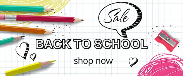 Back to school, shop now lettering