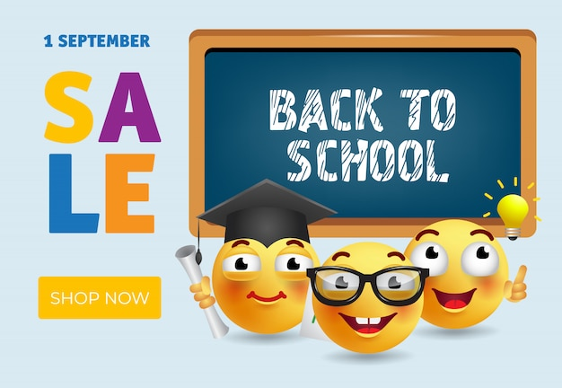 Back to school, shop now sale banner design