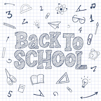 Back to school sketch lettering.