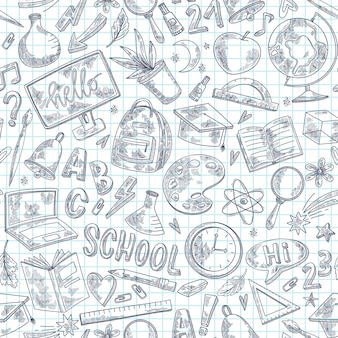 Back to school sketch pattern