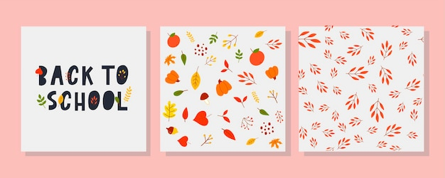 Back to school sketchy doodles with hand drawnvector illustration autumn