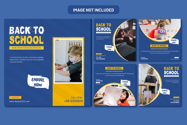 Back to school social media banner and web banner